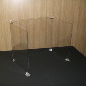 안깨지는 투명 가림막 칸막이 회의실 식당 1인디귿형