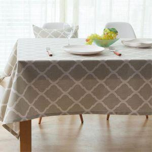 고급면소재 마름모무늬 식탁보 대(140x180cm)