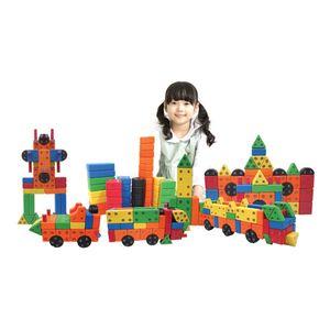 어린이 장난감 소프트 회전 자석 블록 모양 쌓기 블럭