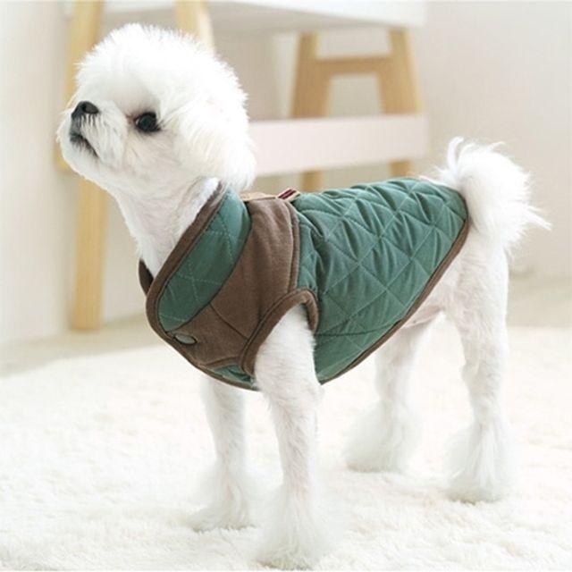 아이엠독 스코티쉬 패딩 그린 강아지옷 애완용품