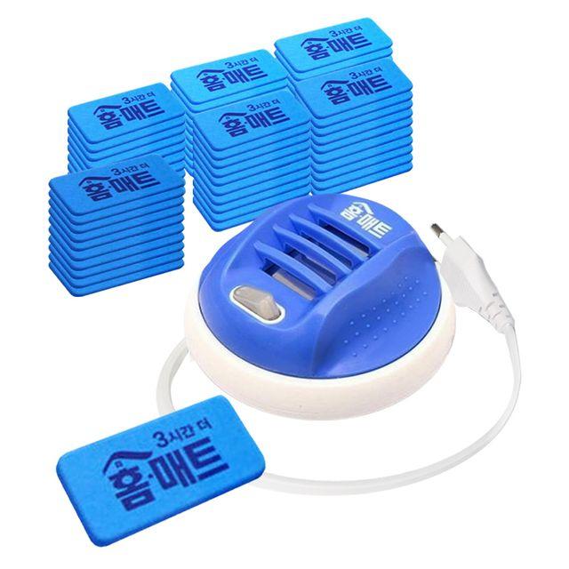 W 패드형 홈매트 전자모기향 훈증기 리필60매포함