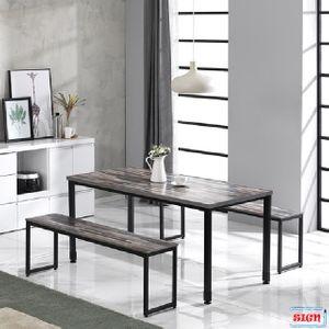 LPM상판 1600 일자철다리 테이블 6인식탁 G-356