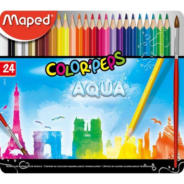 컬러펩스 수채색연필 틴 24색 미술학용품