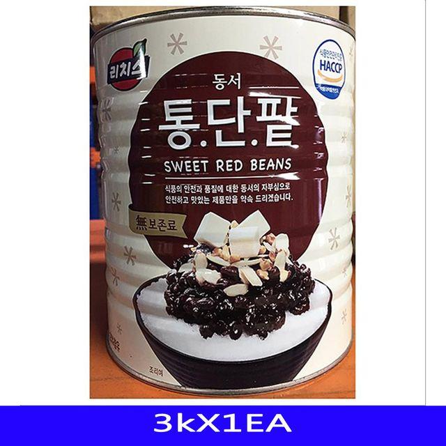 빙수팥 빙수재료 농산물조림 동서 3kX1EA