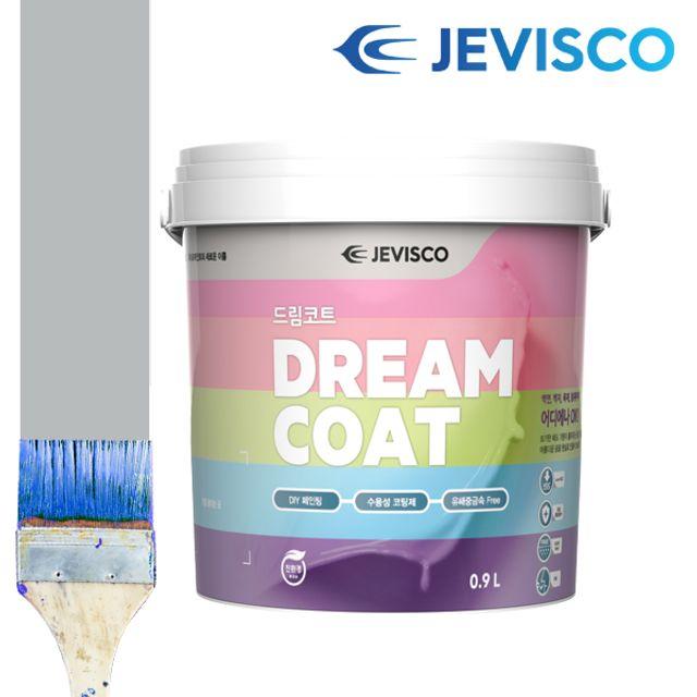 제비스코 드림코트 크리스탈 그레이 0.9L 벽지페인트