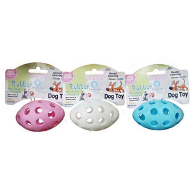 천연고무 러버 럭비공 장난감 s 색상임의 장난감