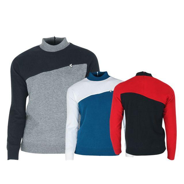 W TCC_페라어스 남성 사선배색 바람막이 골프셔츠 CTYJ2