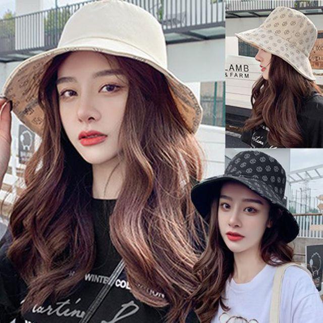 W 양면 리버시블 캐주얼 패션 패턴 데일리 벙거지 모자