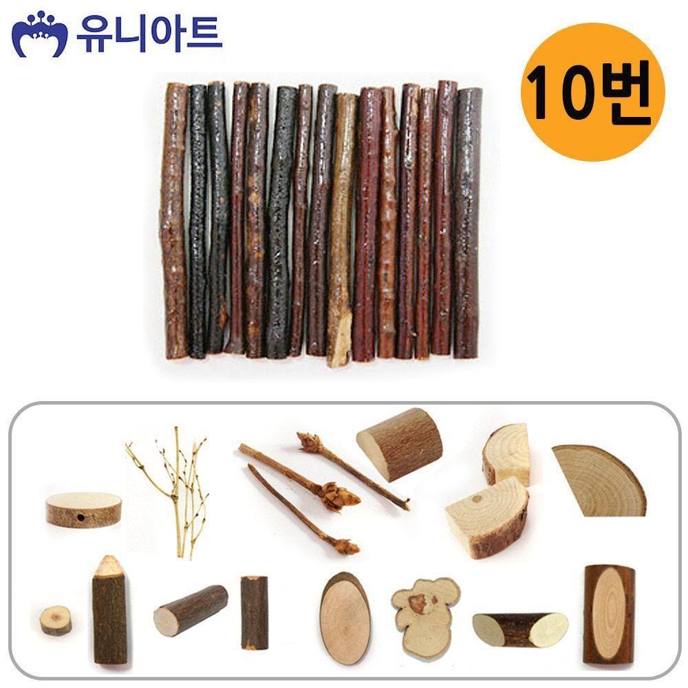 W3DCF2B2000 천연나무조각 54종 10번 미술놀이 유아미술 공작
