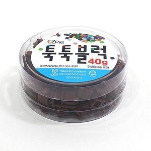 이지 툭툭블럭 40g (밤색) 10매