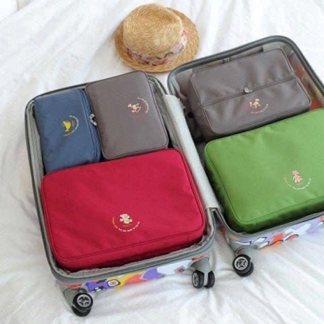 韩国直邮 时尚 针织 旅行箱