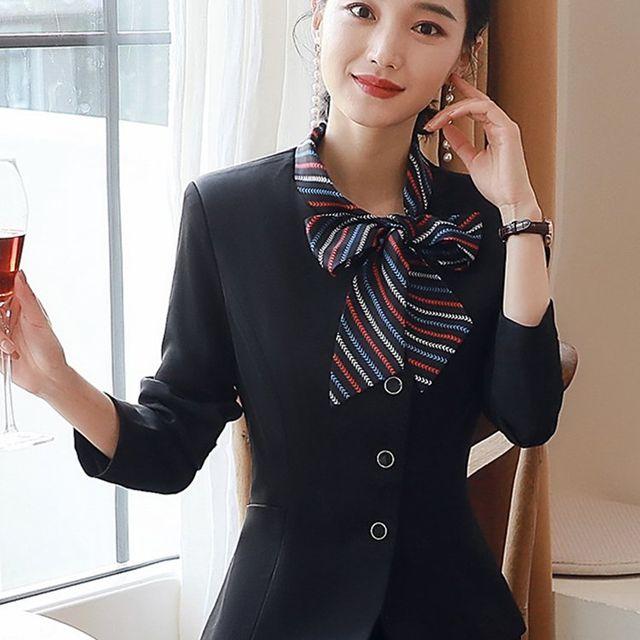 [해외] 여성 패션 재킷 자켓 정장세트석 매장 슬림 바지