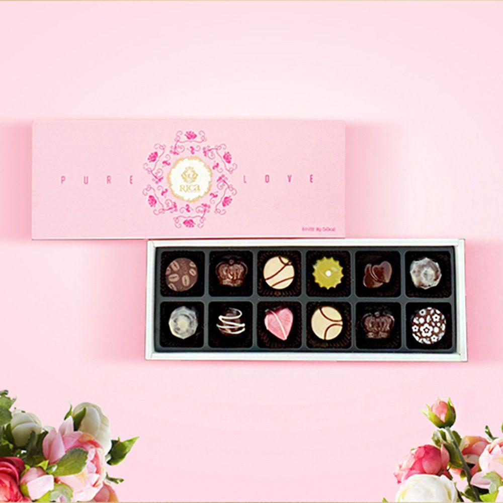 스푼홀릭_ 퓨어러브(12구) 선물세트,초콜릿,초코,초코볼,초코선물세트,발렌타인데이,초콜릿세트