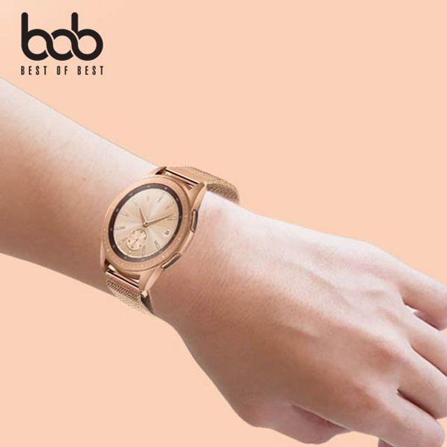 bob 갤럭시워치/액티브1 2 메탈 스트랩 마그네틱 밴드