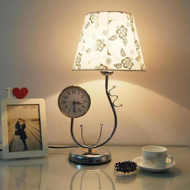 [해외] 인테리어 스텐드 조명 시계 테이블 램프