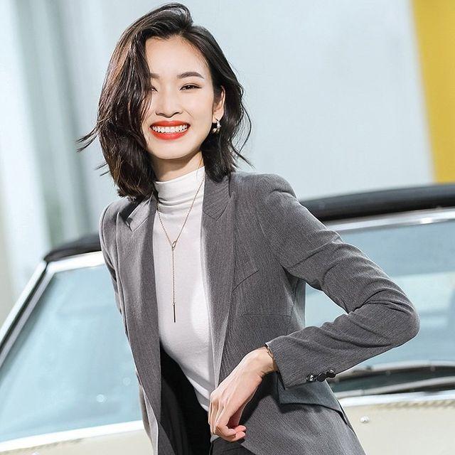 [해외] 여성 패션 재킷 자켓 정장세트 작은 한국어 버전
