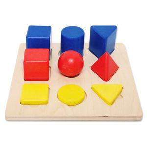도형 블록 퍼즐 맞추기 교구 원목 완구 장난감 놀이