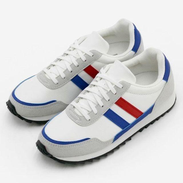 W 남성 운동화 워킹화 2선 스니커즈 런닝화 신발 2색