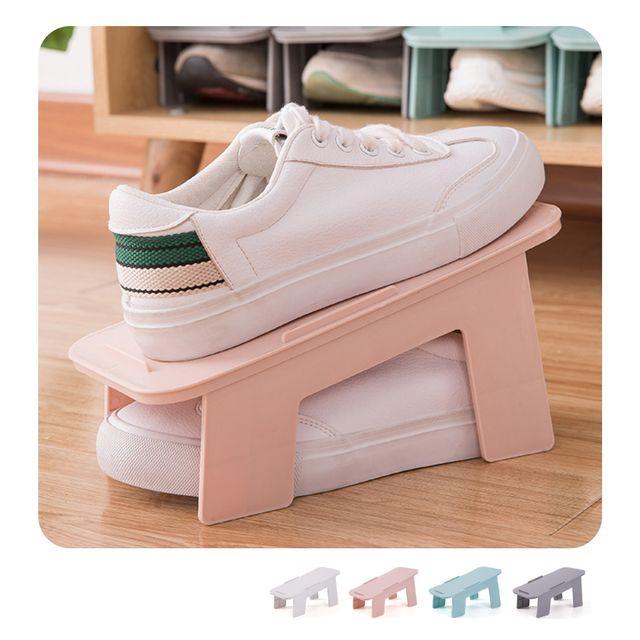 W 키밍 조립식 2단 신발 정리대 수납 신발장 신발보관함