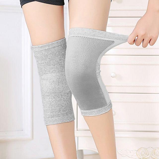 보호용 스판덱스 방한 무릎보호대(그레이) (M)