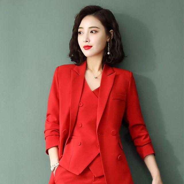 [해외] 여성 패션 재킷 자켓 정장세트L 작업복으로 이동