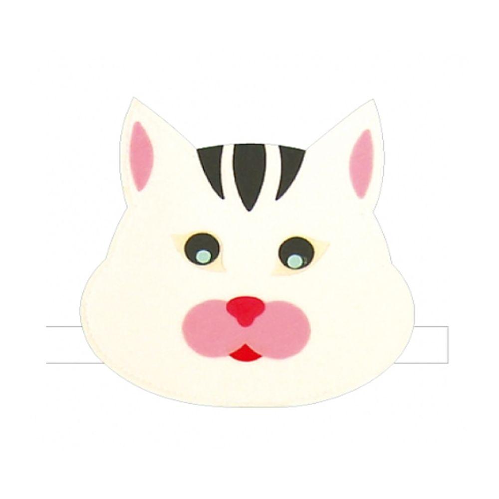 [FB0FA1] 동물 고양이 펠트 머리띠 B 세트