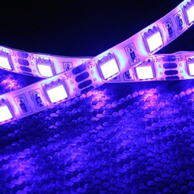 12V용 차량용 5050 6발 3칩램프 LED바 블루LED 10cm