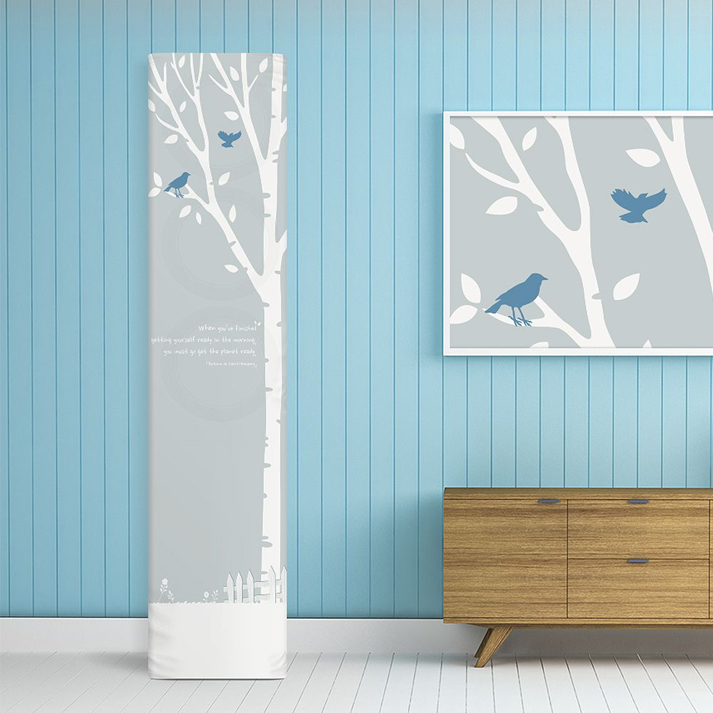 에어컨커버 스탠드형 사각일반 블루드림-보관 카바