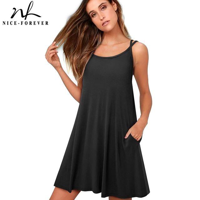 [해외] 니스-영원히 여름 여성 캐주얼 비치 슬립 그린 드레스
