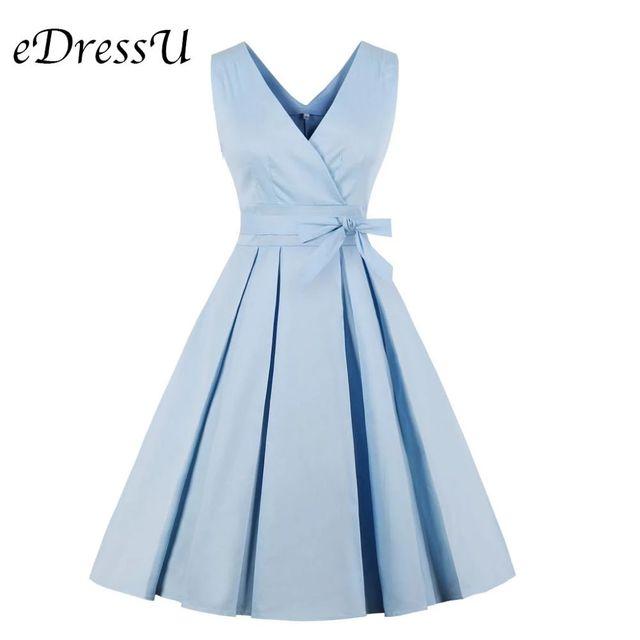 [해외] Edressu 핫 레드 여름 빈티지 드레스 2019 새로운 칵
