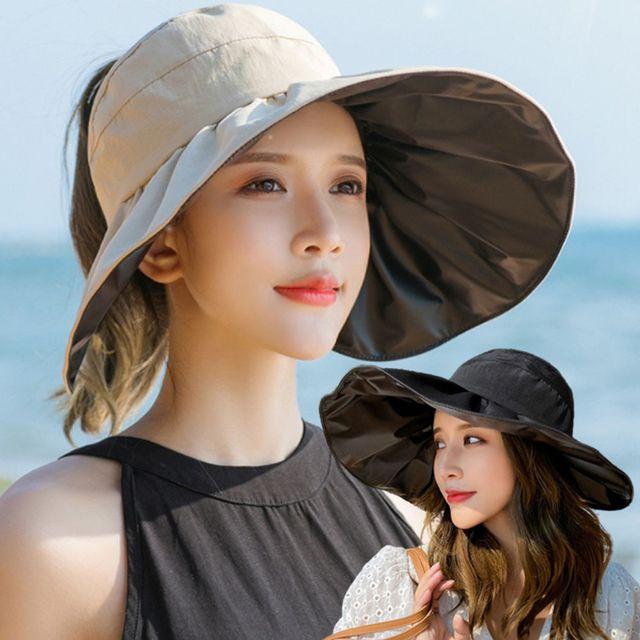 W 와이드챙 여자 여름 외출 모자 여행 나들이 챙모자