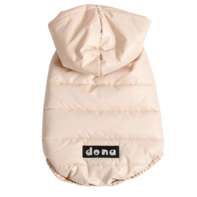 컴패니언 도나 마이펫 패딩 후드 베이지 강아지옷