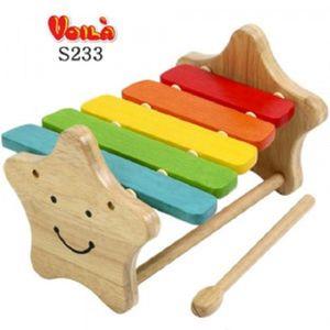 영유아 어린이 별모양실로폰 원목 타악기 장난감