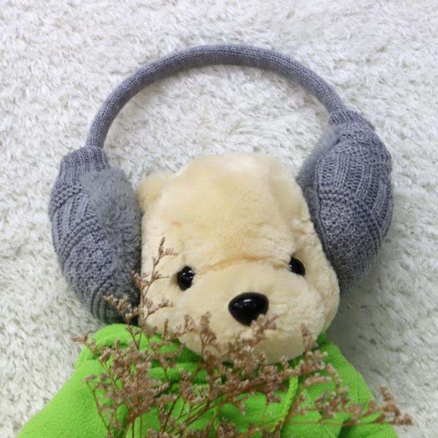 니트귀마개 귀마개 겨울귀마개 귀도리 그레이 ABM