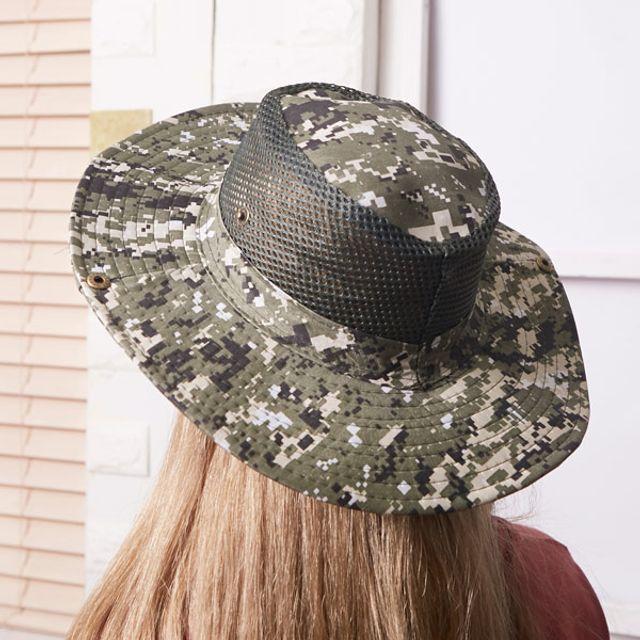 남자 여자 낚시 등산 레저 자외선차단 챙 모자 딥그린