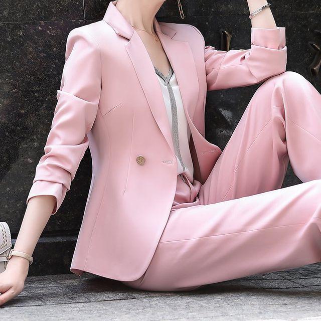 [해외] 여성 패션 재킷 자켓 정장세트킷 유행 숙녀 정장