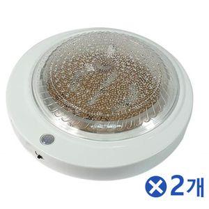 15W 장수 LED원형 센서등 주광색x2개 미니센서등