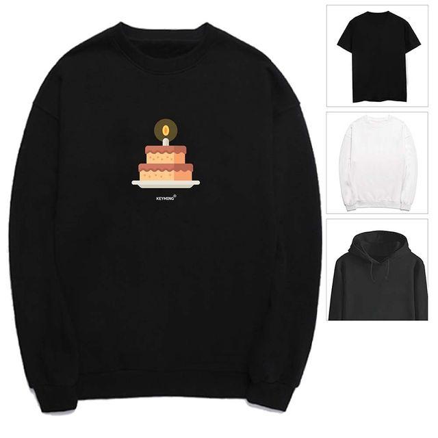 W 키밍 케익 여성 남성 티셔츠 후드티 맨투맨 반팔티