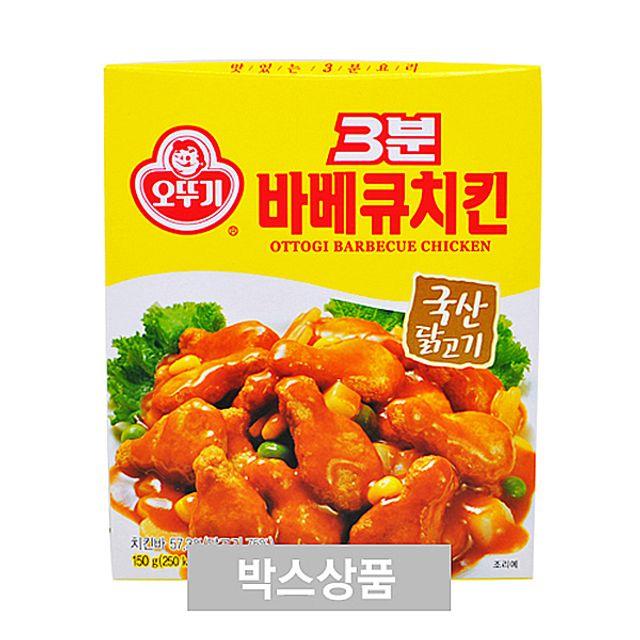 3분 오뚜기 바비큐 치킨 150g 1인분 X 24EA,오뚜기,3분,바비큐,치킨,150g