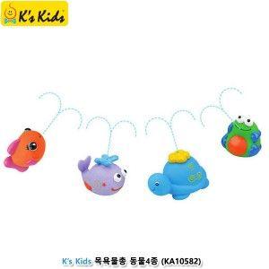 목욕 욕조 물총 놀이 장난감 동물4세트