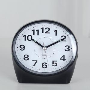 클래식 타원 알람탁상시계(블랙)