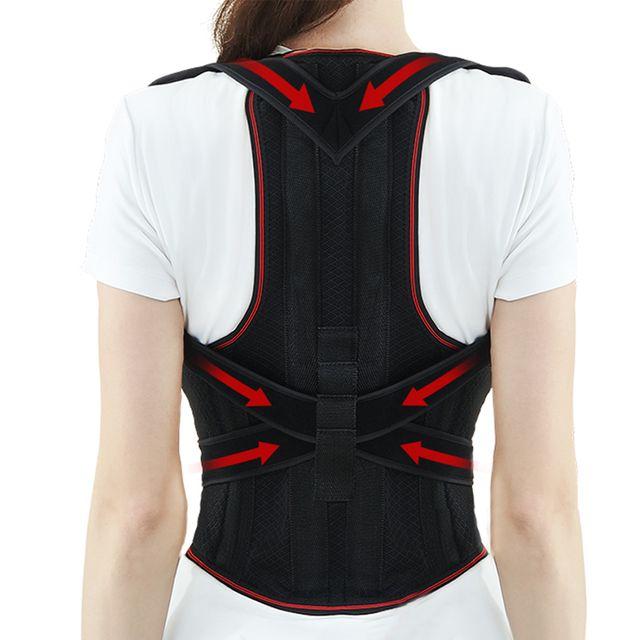 [해외] SHUNDING 밴드 어깨 허리 척추 블랙 S 키 110~140
