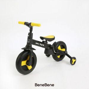 어린이 네발 자전거 유아 유모카 접이식 옐로우