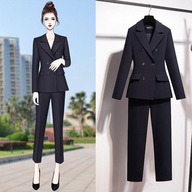 [해외] 여성 패션 재킷 자켓 정장세트션 정장 바지