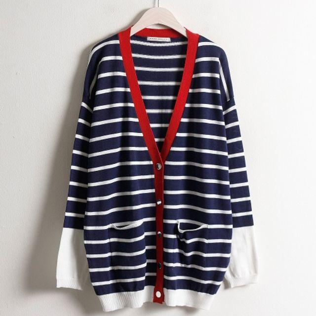 봄단가라 가디건 여성 패션 의류 캐주얼 재킷