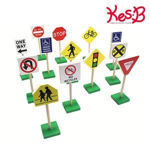 캐스B플레이 미니 교통 표지판 자동차놀이 교통안전