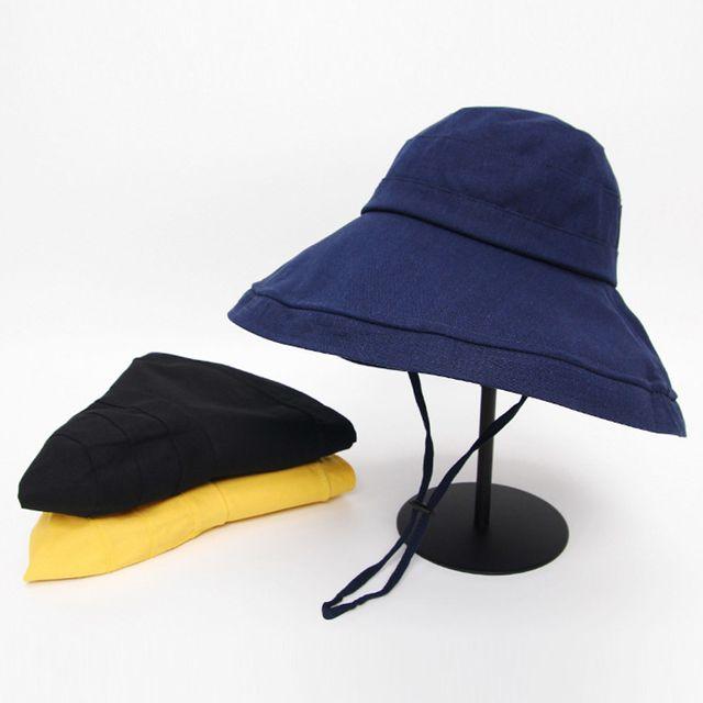 서브 린넨 버킷 플로피햇 여름 여성 휴가 벙거지 모자