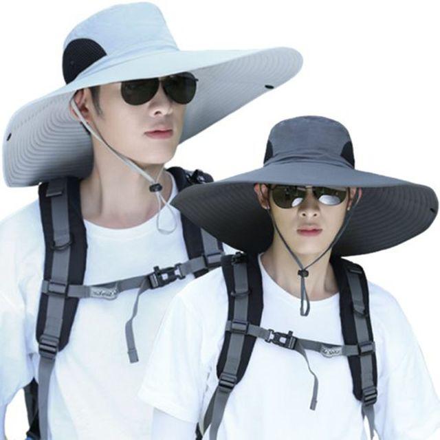 W 넓은 빅 챙 4계절 사용 햇빛 차단 방수 등산 모자