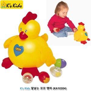 아기 딸랑이 장난감 걸음마 완구 알낳는꼬꼬 엠마