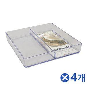 투명 뷰티소품 정리함 8호x4개 화장품보관함 수납함